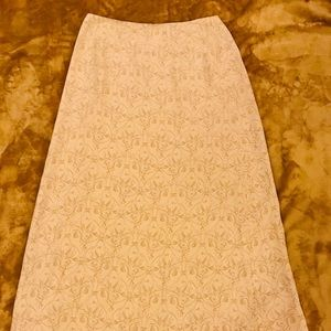 Talbots A-Lined fully lined Gold Skirt Sz 10